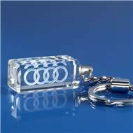 Crystal Rectangle Keyrings with 3D Laser Engraving