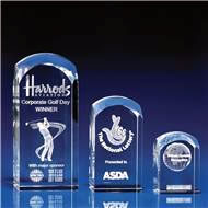 Crystal Dome Tower Awards with 3D Laser Engraving