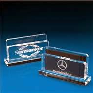 Crystal Letter Rack / Card Holder with 3D Laser Engraving