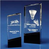 Monochrome Crystal Award with 3D Laser Engraving