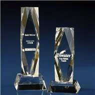 Crystal President Corporate Award with 3D Laser Engraving