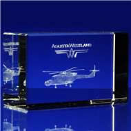Grande Rectangle Crystal Award with 3D Laser Engraving