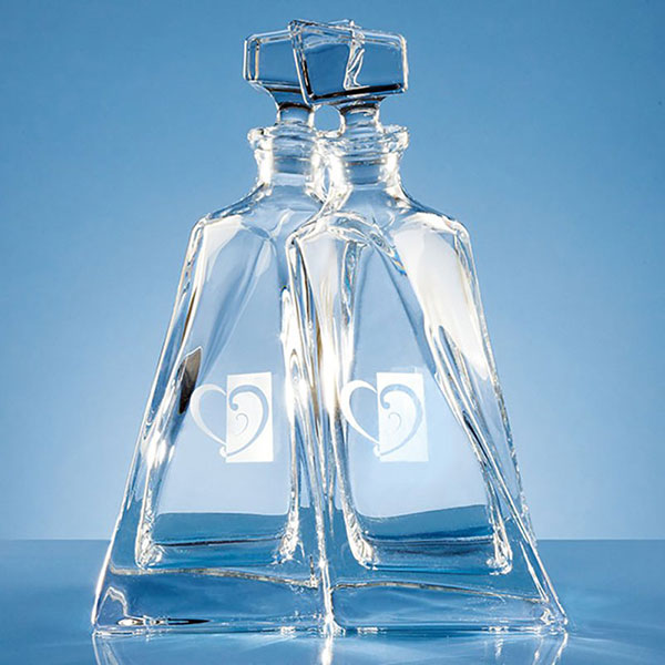 Pair Lovers Crystalite Decanters CB10