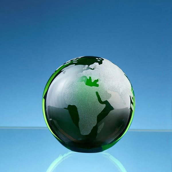 70mm Green Glass Ocean Globe