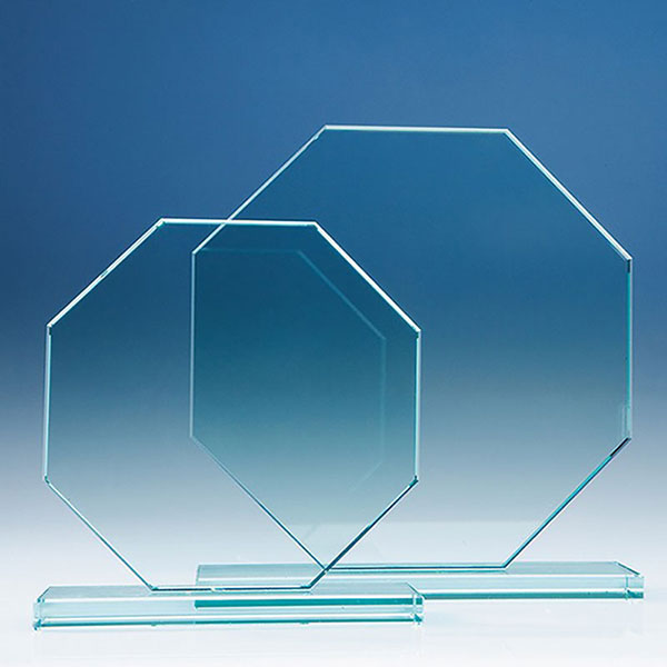 6in x 6in Jade Glass Octagon Award