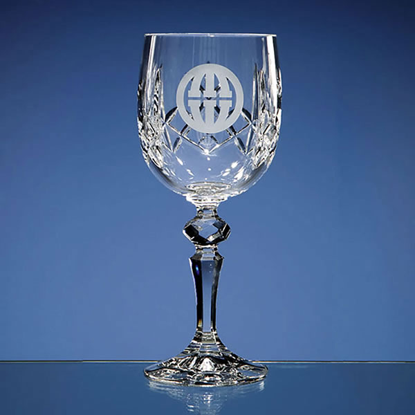 Flamenco Lead Crystal Panel Goblet