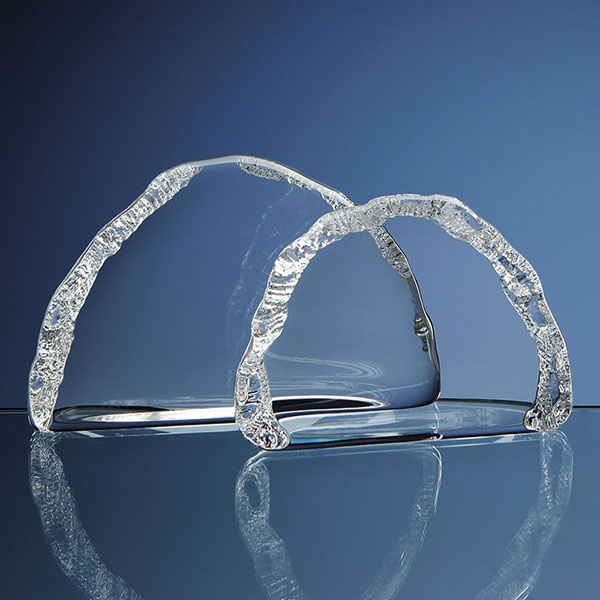 7.5cm Lead Crystal Ice Block JG2