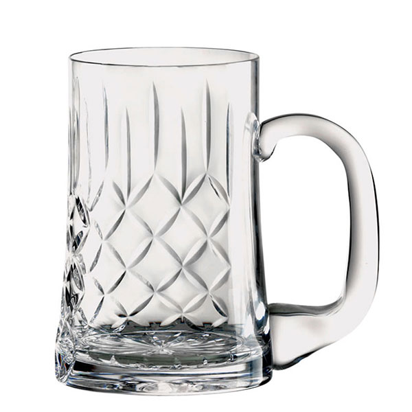 Engraved Lead Crystal Panel Pint Tankard