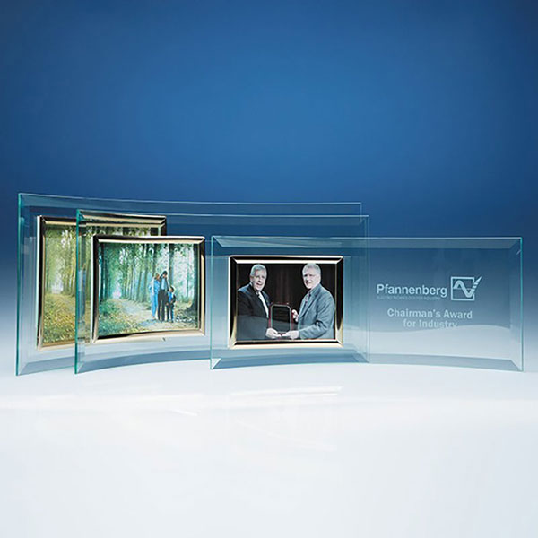 Jade Glass Crescent with 5in x 3.5in Photo Frame