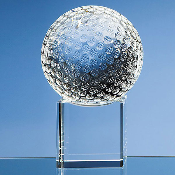 100mm Golf Ball on Clear Base