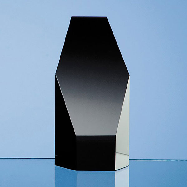 5in Black Optic Crystal Hexagon Award