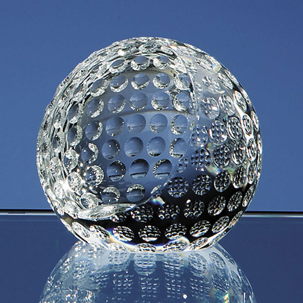 60mm Optic Crystal Golf Ball Paperweight SY2083