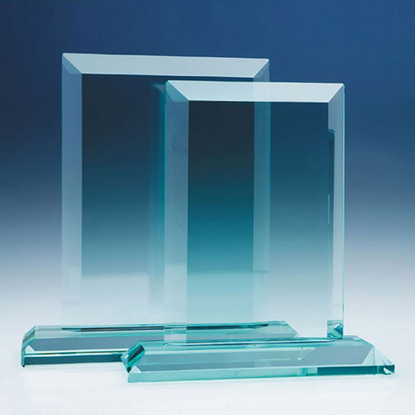 18cm Mitred Rectangle in 19mm Jade Glass