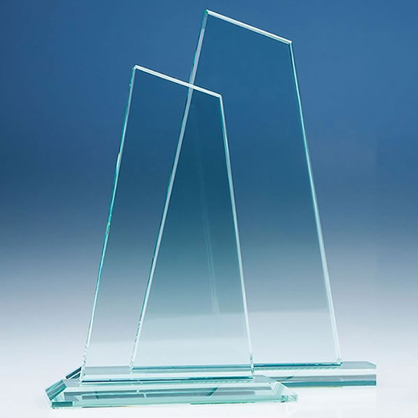 10in Tall Jade Glass Mountain Award