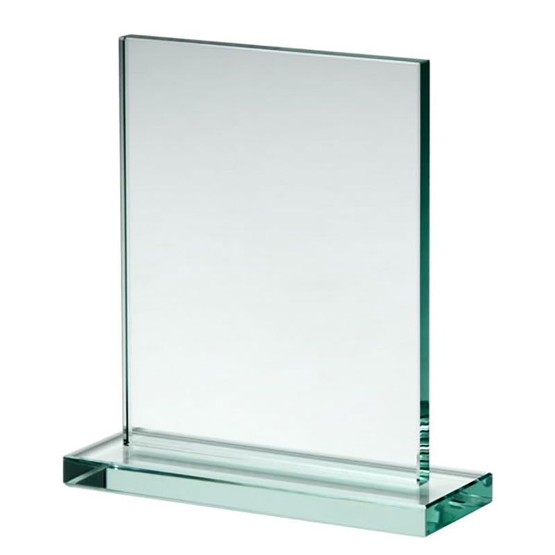 12cm X 9cm X 10mm Jade Glass Rectangle Awards Crystal
