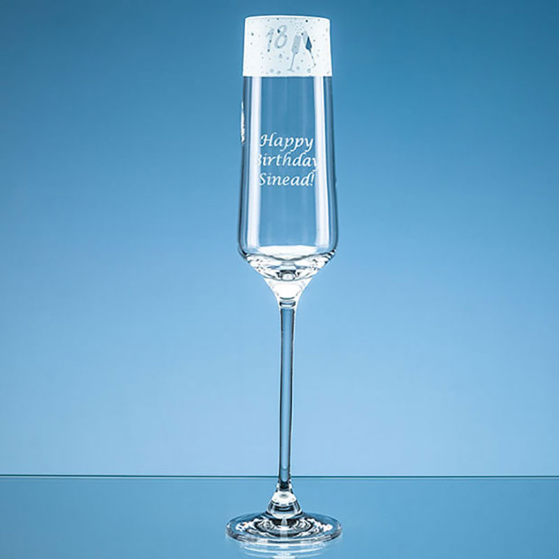 Engraved 18th Birthday Champagne Flute