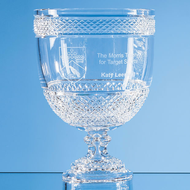 Lead Crystal Footed Presentation Bowl 27cm Tall
