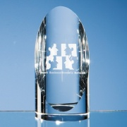 5.5in Optic Crystal Cylinder Award