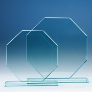 8in x 8in Jade Glass Octagon Award