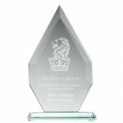 18mm Jade Glass Flagstaff Award 10in