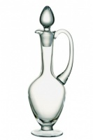 Engraved Lead Crystal Clear Glass Claret Jug Decanter