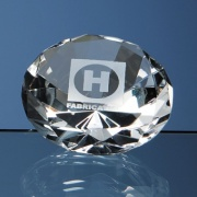 8cm Optical Crystal Diamond Paperweight L319