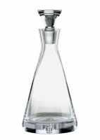 Engraved Crystal Bubble Base Pyramid Shape Decanter