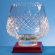 21cm Lead Crystal Panelled Tulip Bowl