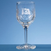 220ml Blenheim Lead Crystal Panel Wine Glass