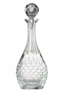 Engraved Crystal Gallery Panel Wine Decanter