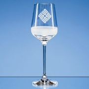 350ml Diamond Cut Crystalite Wine Glass SL506