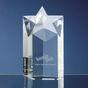 6in Optical Crystal Star Column Award