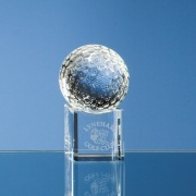 50mm Golf Ball on Clear Base