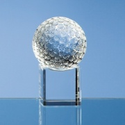 60mm Golf Ball on Clear Base