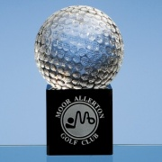 80mm Crystal Golf Ball on Black Base
