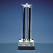 24cm Optic Crystal Mounted Star Column Award