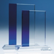 15cm Optic Crystal Blueline Rectangle SY2011