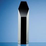 10in Black Optic Crystal Hexagon Award