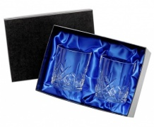Boxed Set of Two Cut Glass Whisky Tumblers UPP362