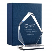 6.5in Summit Award in 15mm Clear Glass