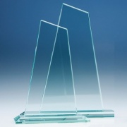 8in Tall Jade Glass Mountain Award