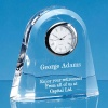 12cm Lead Crystal Dome Clock
