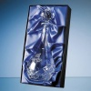 29cm Glass Handmade Slope Top Laurel Vase