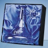 Engraved Crystal Handmade Clear Glass Ships Decanter