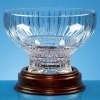 Lead Crystal Heeled Presentation Bowl 22cm dia