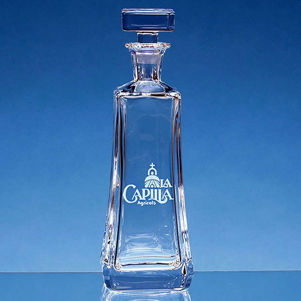 Engraved Crystalite Aretzo Tapered Decanter