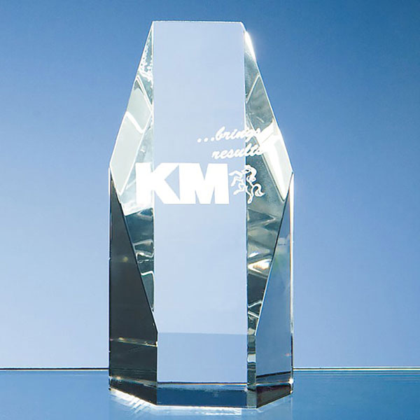12.5cm Optical Crystal Hexagon Award