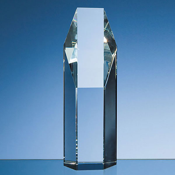 7.5in Optical Crystal Hexagon Award