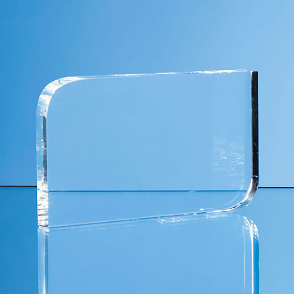 12cm x 17.5cm Optical Crystal Curved Rectangle Award