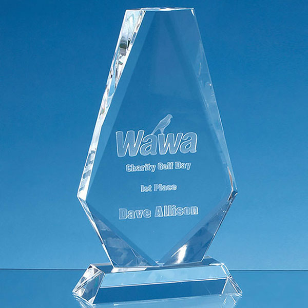 17.5cm Optical Crystal Cropped Iceberg Award